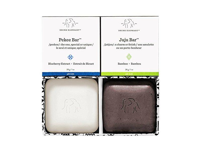 Drunk Elephant Baby Juju + Baby Pekee Travel Duo Exfoliating Face Wash & Moisturizing Bar Soap, 2 oz