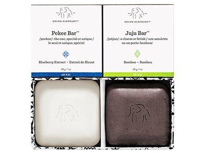 Drunk Elephant Baby Juju + Baby Pekee Travel Duo Exfoliating Face Wash & Moisturizing Bar Soap, 2 oz - Image 1