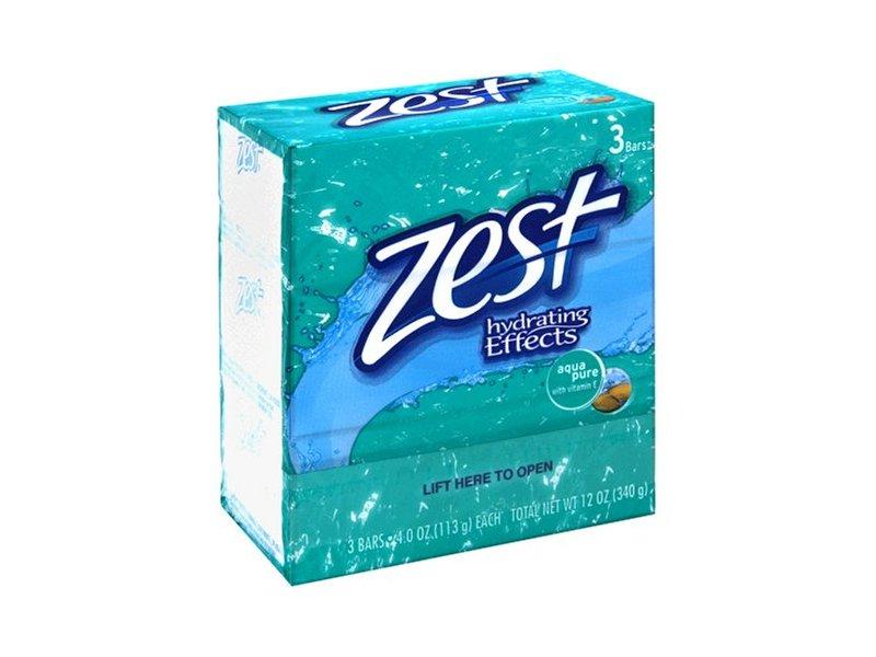 Zest Bar Aqua Pure Soap, 4 oz
