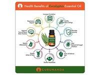 GuruNanda Eucalyptus Essential Oil, 15ml - Image 3