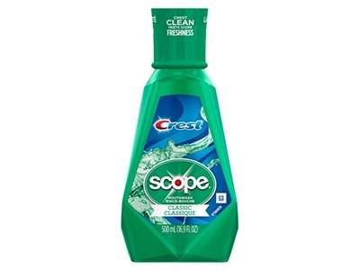 Crest Scope Mouthwash Classic 16.9 Ounce (500ml) (6 Pack)