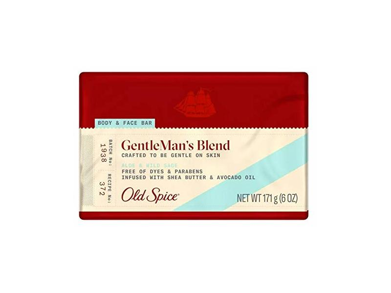 Old Spice GentleMan's Blend Aloe & Wild Sage Body & Face Bar, 6 oz