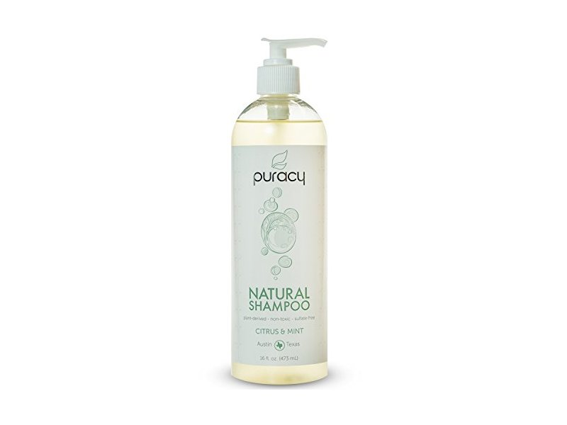 Puracy Natural Daily Sulfate-Free Hair Shampoo, Citrus & Mint, 16 Fluid Ounce