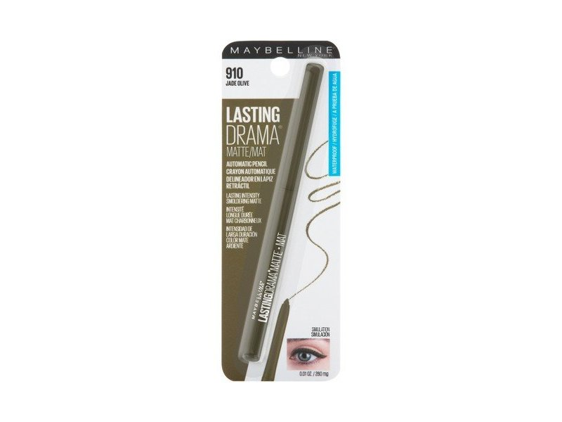 Maybelline Lasting Drama Matte Automatic Pencil, 910 Jade Olive (Pack of 2)
