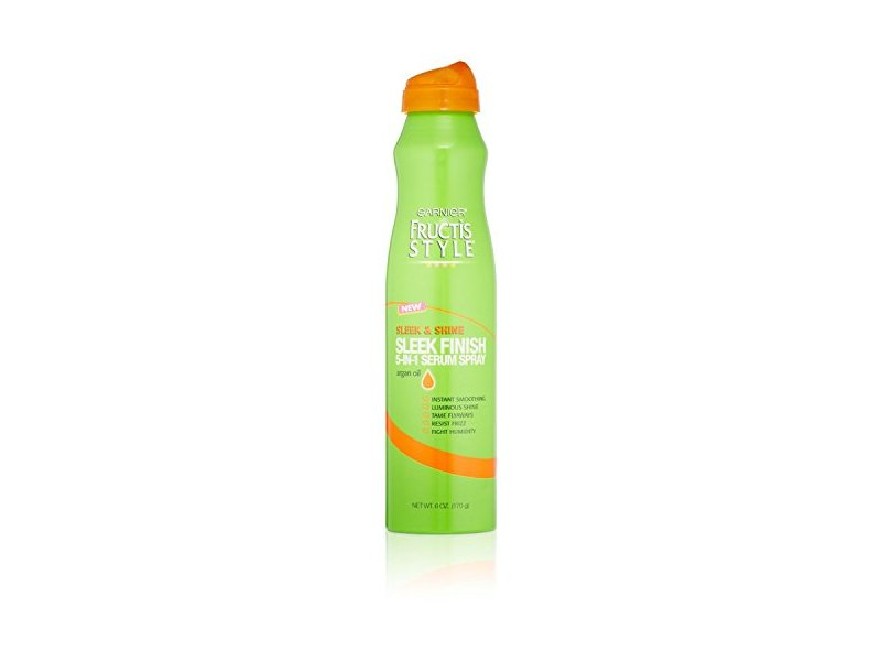 Garnier Fructis Style Sleek & Shine Sleek Finish 5-In-1 Serum Spray, 6 oz