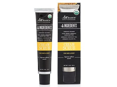 S.W. Basics Cream Hydrating Face and Body Exfoliating Scrub, 2.0 Ounce - Image 1