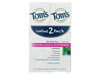Tom's of Maine Antiplaque & Whitening Toothpaste, Peppermint, 5.5 oz (Pack of 2) - Image 2