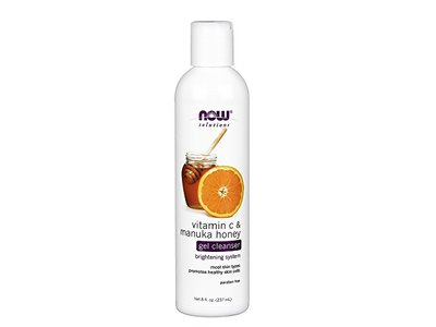 NOW Vitamin C and Manuka Honey Cleanser, 8-Ounce