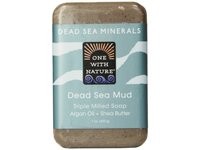 One With Nature Dead Sea Mud Minerals Soap, 7 Ounce - Image 2