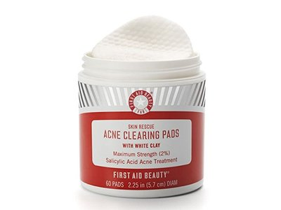 First Aid Beauty Skin Rescue Acne Clearing Pads with White Clay, 60 Pads - Image 3