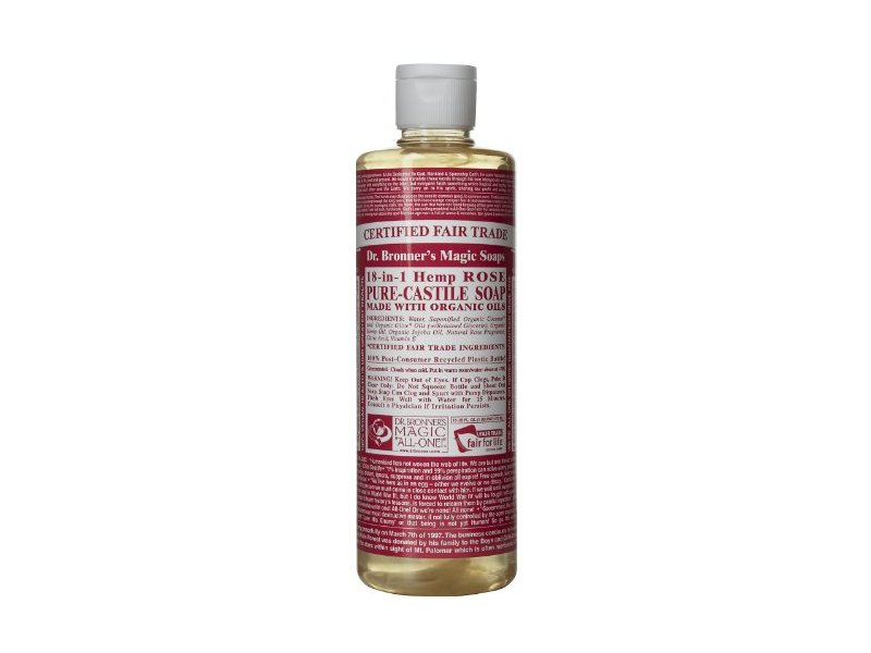 Dr Bronner Soap Liquid, Rose, 16 fl oz