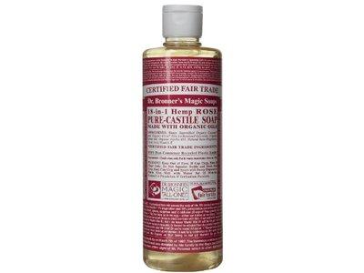 Dr Bronner Soap Liquid, Rose, 16 fl oz - Image 1