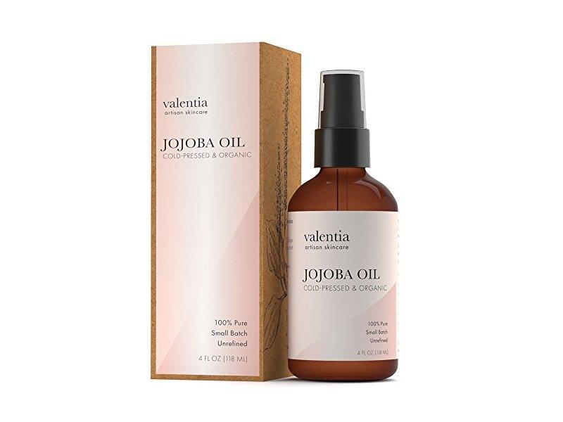 Valentia Organic Jojoba Oil, 4 fl oz/118 mL