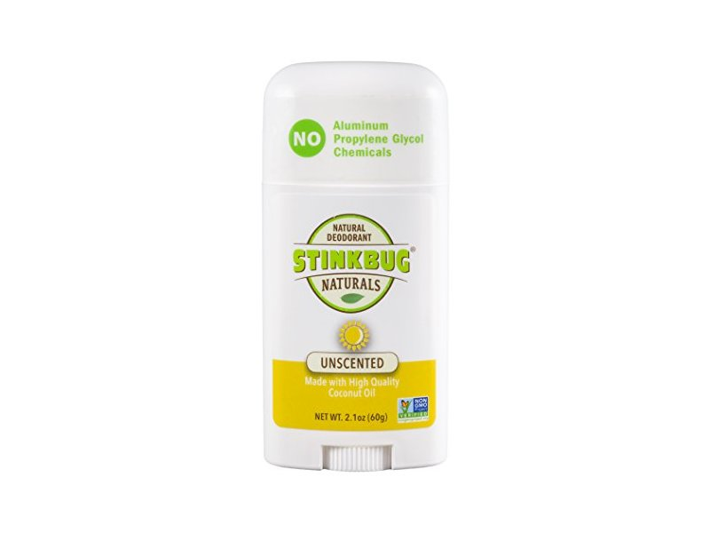 Stinkbug Naturals All Natural Deodorant, Unscented, 2.1 Ounce