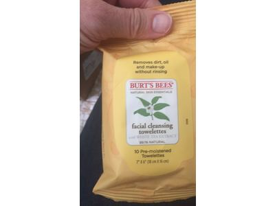 Burt's Bees Cleansing Facial Cleansing Towelettes, 10 count - Image 3