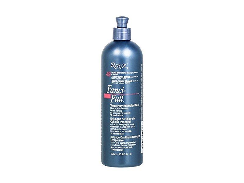 Roux Fanci-full Temporary Color Rinse 49 Ultra White Minx, 15.2 fl Oz/ 450 ml