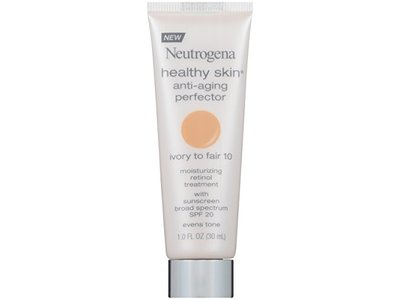 Neutrogena Healthy Skin SPF 20 Anti-Aging Perfector, 10/Ivory Fair, 1 Fluid Ounce - Image 1