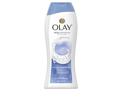 Olay Daily Exfoliating with Sea Salts Body Wash, 22 oz - Image 1