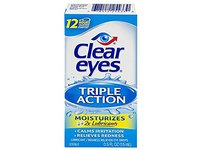 Clear Eyes Triple Action Relief Eye Drops 0.50 oz (Pack of 5) - Image 2