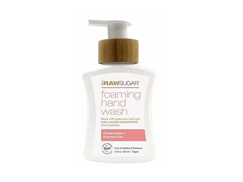 Raw Sugar Foaming Hand Wash Rosewater + Kombucha - 12 fl oz