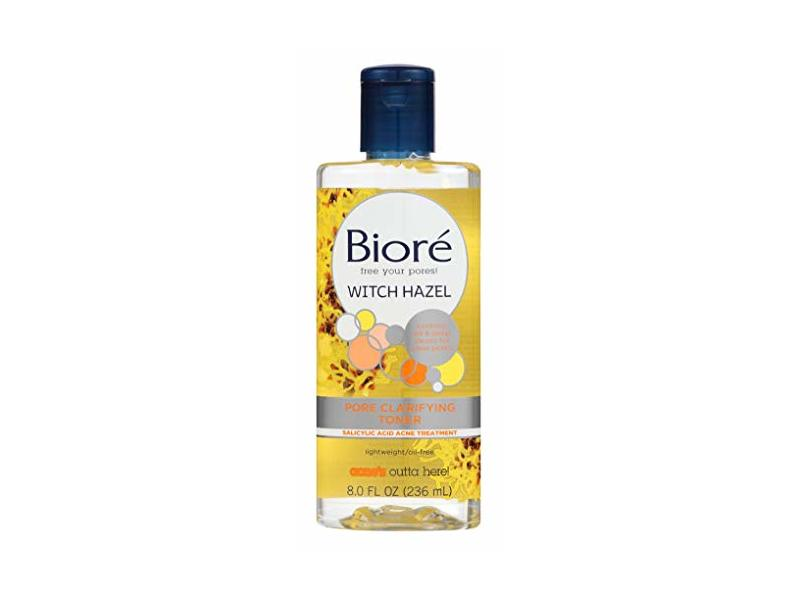 Biore Witch Hazel Toner Pore Clarifying, 8 fl oz