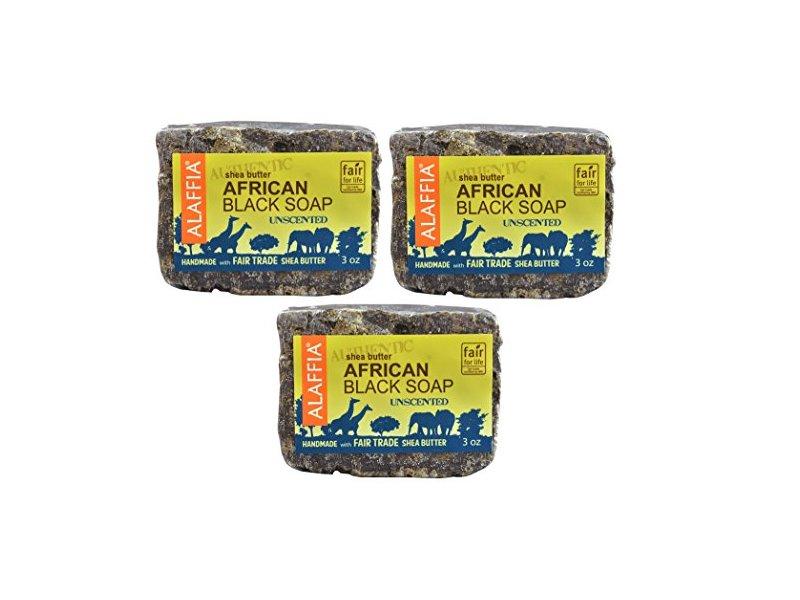 Alaffia Authentic Shea Butter African Black Soap, Unscented, 3 oz