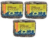 Alaffia Authentic Shea Butter African Black Soap, Unscented, 3 oz - Image 2