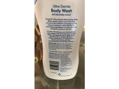 Cetaphil Ultra Gentle Body Wash, Refreshing Scent, 16.9 Ounce - Image 6