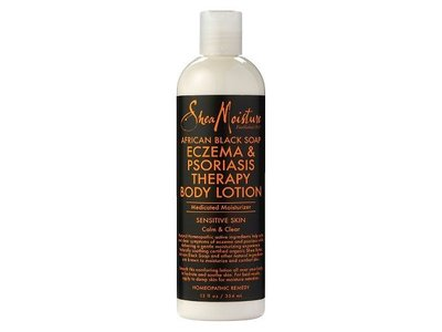 SheaMoisture African Black Soap Eczema Psoriasis Therapy Body Lotion, 12 fl oz