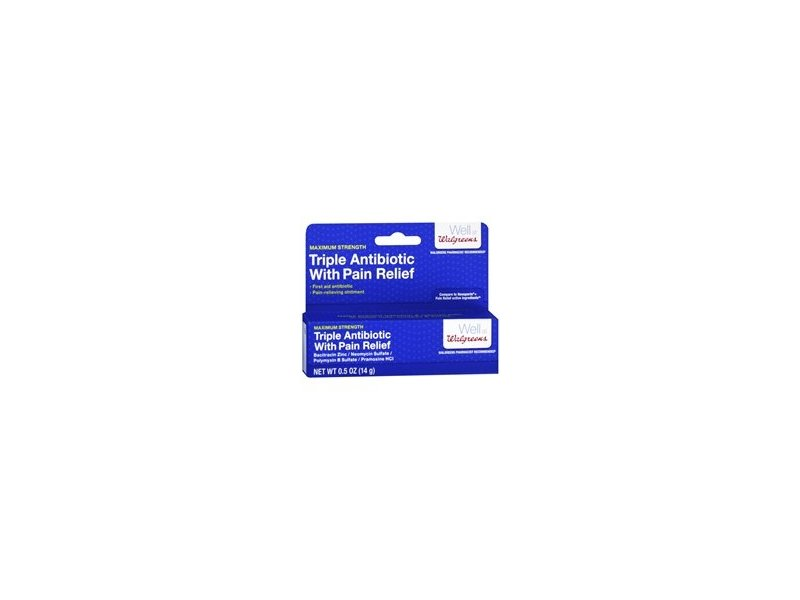 Walgreens Triple Antibiotic with Pain Relief, .5 oz
