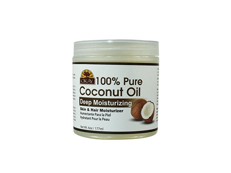 Okay 100% Pure Coconut Oil Skin & Hair Moisturizer, 6 oz