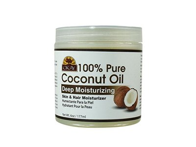 Okay 100% Pure Coconut Oil Skin & Hair Moisturizer, 6 oz