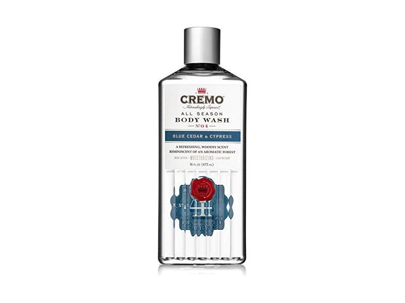 Cremo All Season Body Wash, Blue Cedar & Cypress, 16 fl oz