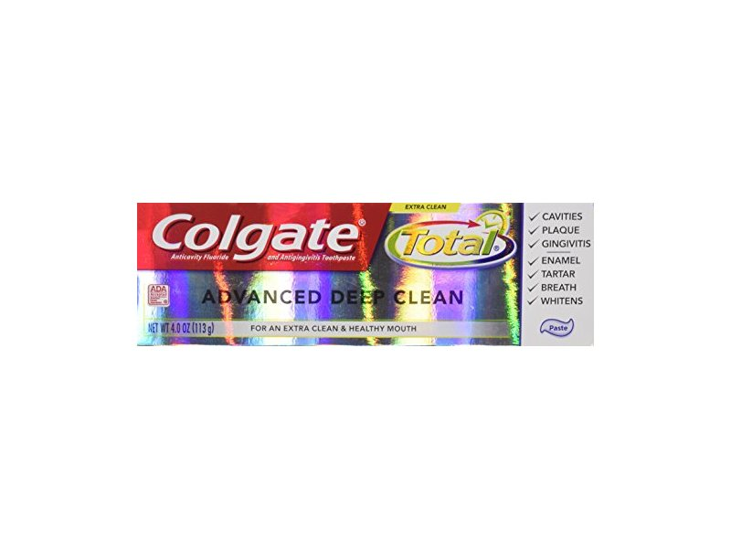 Colgate Total Advanced Fluoride Toothpaste, Deep Clean, 4 ...
