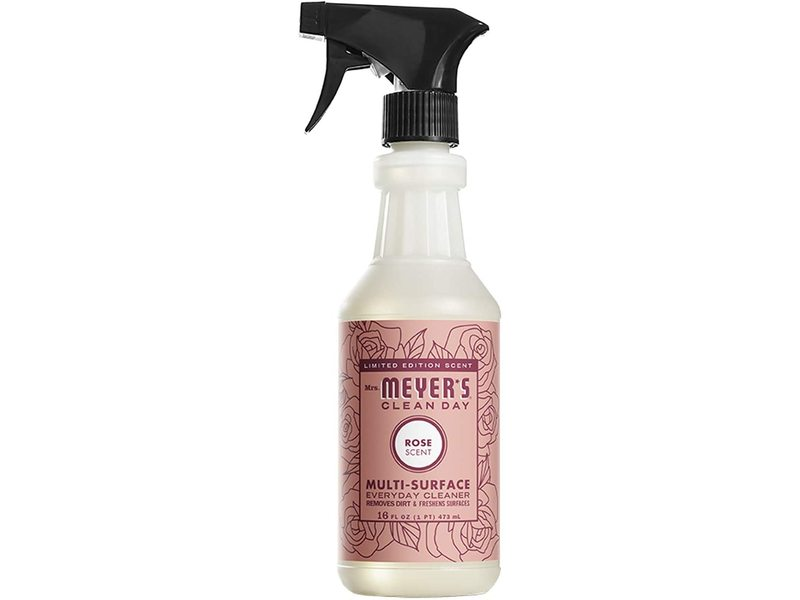 Mrs. Meyer's Clean Day Multi-Surface Everyday Cleaner, Rose Scent, 16 fl oz/473 ml