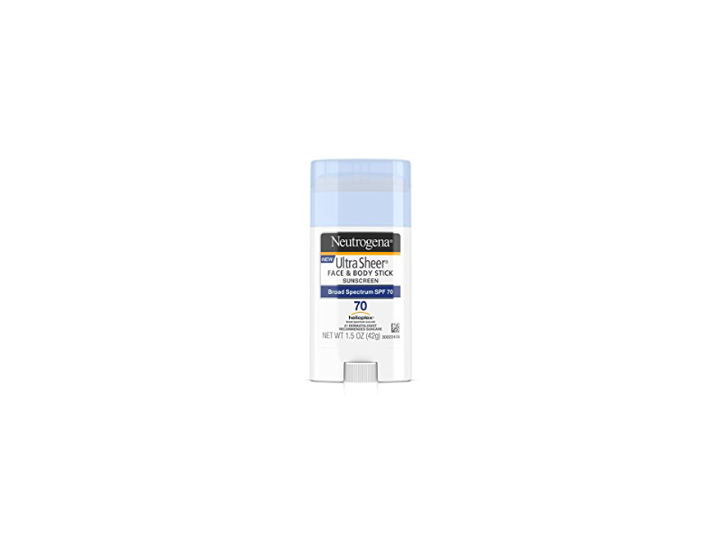 Neutrogena Ultra Sheer Face & Body Stick Sunscreen, Broad Spectrum SPF70, 1.5 oz