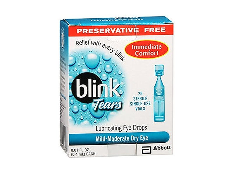 Blink Tears Lubricating Eye Drops Mild-Moderate Dry Eye, 25 Count