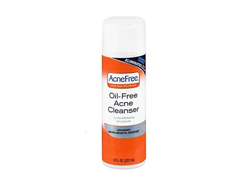 Acnefree Oil Free Acne Cleanser, 8 Ounce (Pack of 2)