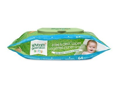 Seventh Generation Free And Clear Wipes Unscented - 64 Wipes (Pack Of 6) - Image 1