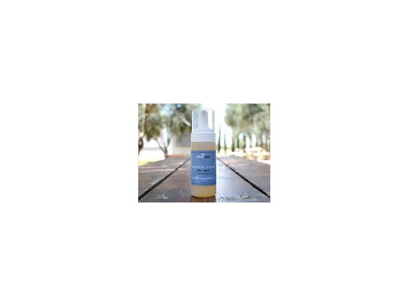 Olive Spa Shaving Foam for Men, Vanilla Sandalwood, 5 fl oz