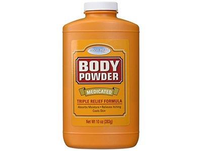 Assured Medicated Body Powder, Triple Relief Formula, 10 Oz