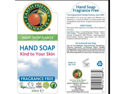 Earth Friendly Products Hand Soap, Fragrance-Free, 500ml - Image 3