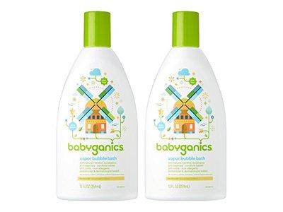 Babyganics Vapor Bubble Bath 12 oz Bottles