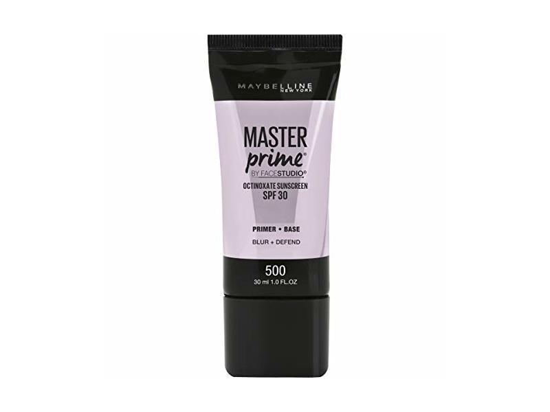 Maybelline New York Master Prime Sunscreen Spf 30 Primer, Blur+Defend, 1 fl oz / 30 ml