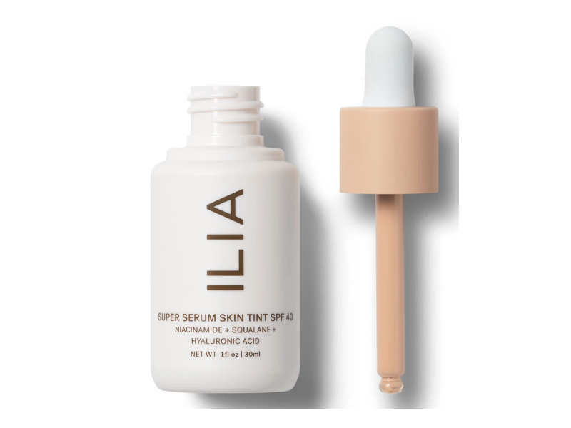Ilia Beauty Super Serum Skin Tint, SPF40, Balos ST3, 1 fl oz/30 mL