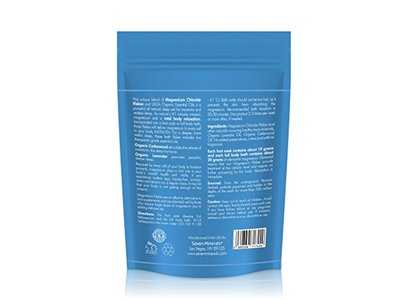 Seven Minerals Sleep Well Magnesium Chloride Flakes 3lb With Organic Cedarwood & Lavender - Image 8