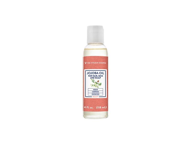 The Vitamin Shoppe Jojoba Oil For Hair, Scalp & Skin, 4 fl oz/118 mL