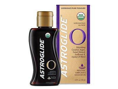 Astroglide O - Organic Oil-Based Personal Lubricant & Sensual Massage Oil - Experience Pure Pleasure , 4.0OZ