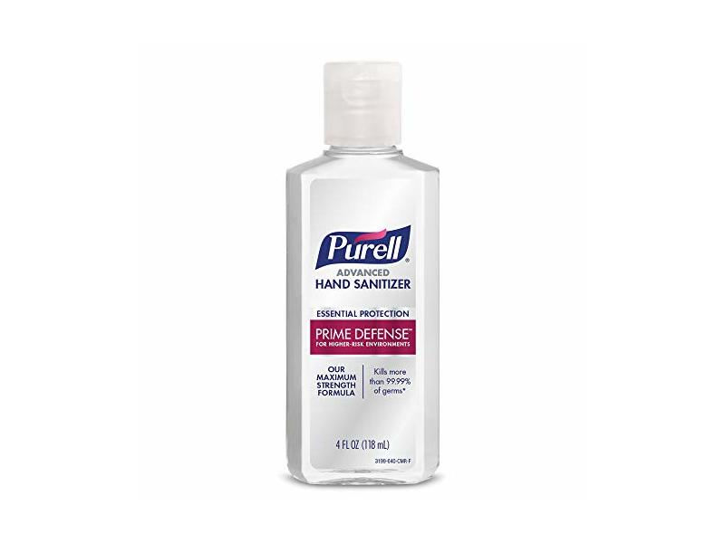 Purell Advanced Hand Sanitizer, Prime Defense, 4 fl oz/118 mL