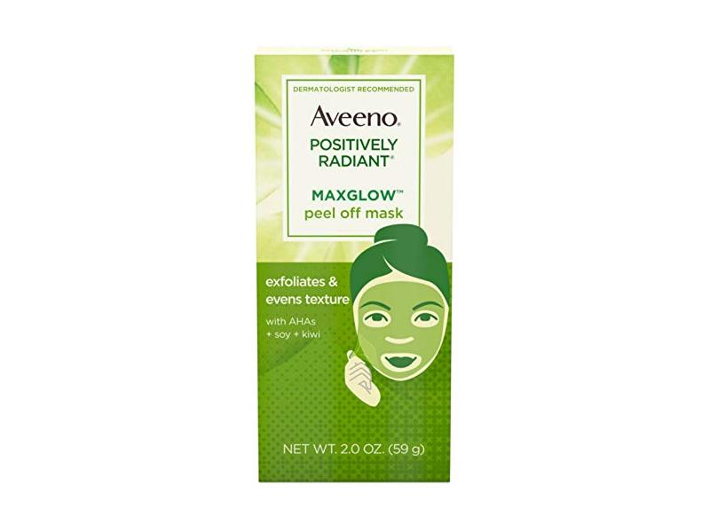 AVEENO Positively Radiant MaxGlow Peel Off Exfoliating Face Mask 2 oz